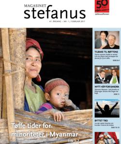 Bilde Myanmar, forsiden av Magasinet Stefanus, Stefanusalliansen.