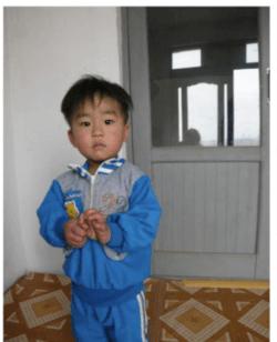 Gutten Min er på forsiden av et heftet om livet i Nord-Korea. Laget av Stefanusalliansen.