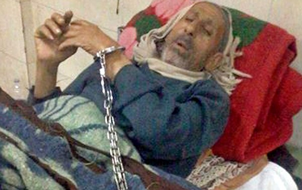 Kamel Saleh Al Rab ble banket opp. Her i sykesengen