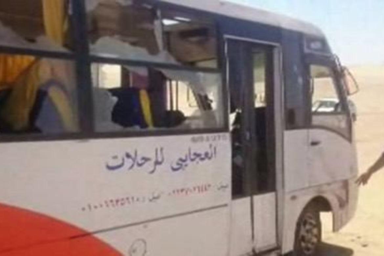I denne bussen satt pilegrimene som ble drept på veien til et kloster i sørlige Egypt.