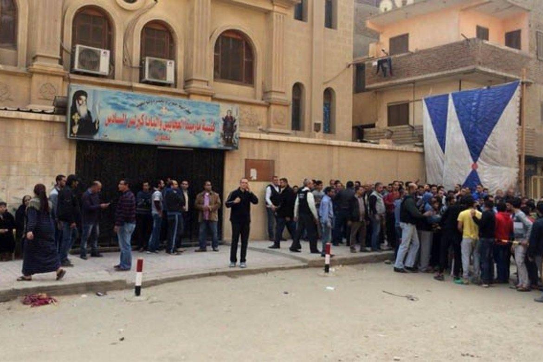 Mar Mina-kirken i Helwan-distriktet sør for Kairo ble angrepet 29. desember.
