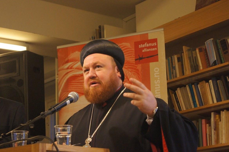 Nicodemus Daoud leier kyrkja si på flukt frå Mosul, i byen Erbil i dei kurdiske områda i Nord-Irak.