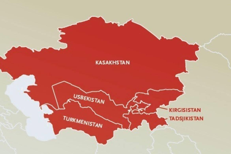 Kart over Sentral-Asia.