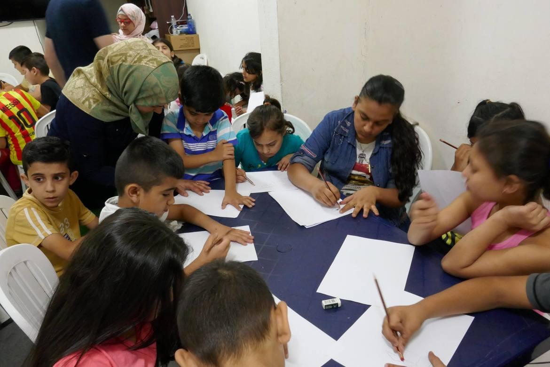 På barneklubben som Resurrection Church Beirut driv for syriske og irakiske flyktningbarn, er teikning favorittaktiviteten.