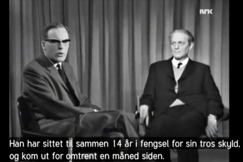 NRKs Sverre Tinnå intervjuer i januar 1966 Richard Wurmbrand.