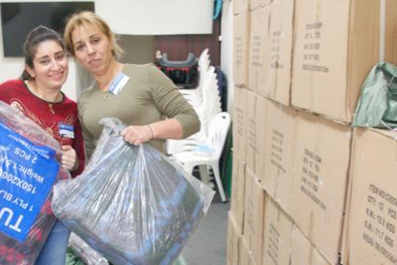 Syriske flyktninger fikk varmeovner og teppe etter en innsamling blant giverglade venner i Stefanusalliansen.