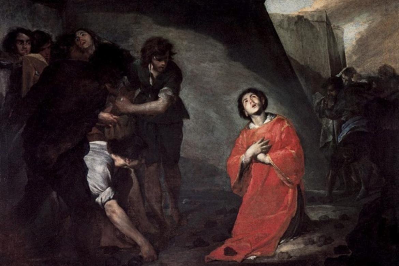 «St. Stefanus' martyrium». Maleri av den italienske barokkmaleren Bernardo Cavallino (1616-1656).