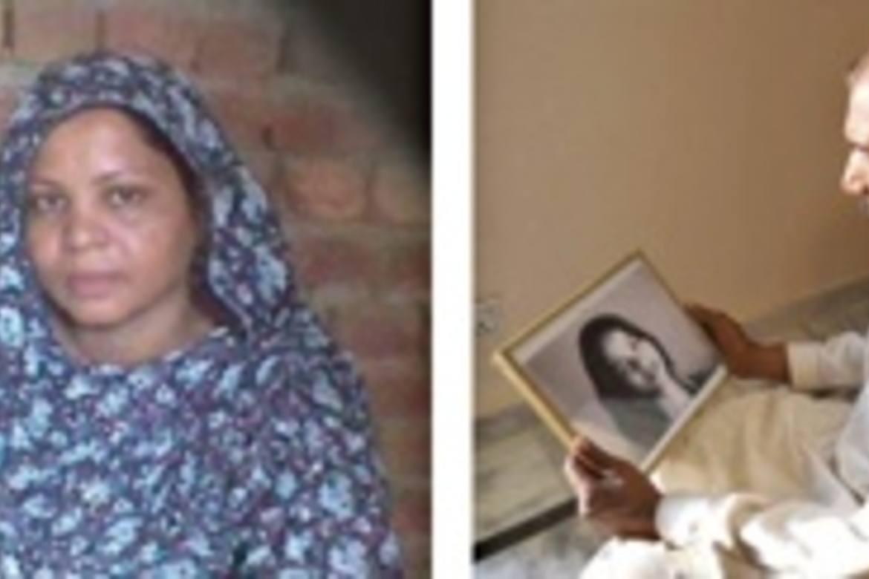 Asia Bibi og ektemannen.