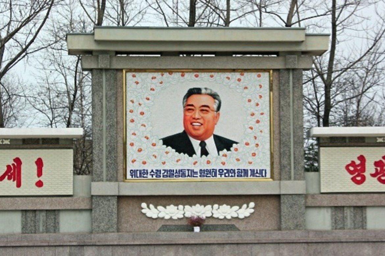 Kim Il-sung som grunnlag Kim-dynastiet, er bestefar til Kim Jong-un. (Foto: Karin Riska)