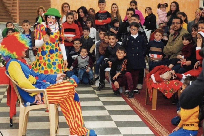 Slik det ut på fjorårets julefest for foreldreløse barn, i regi av mama Maryam, støttet av Stefanusalliansen.
