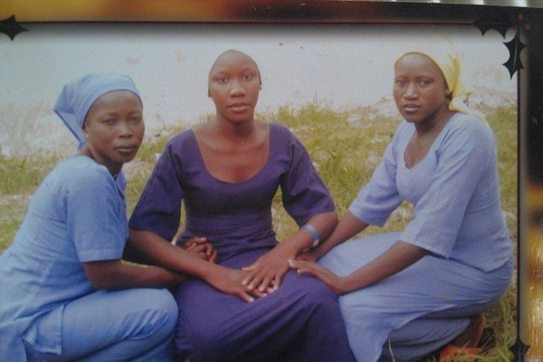 To av dise jentene ble kidnappet av den islamistiske gruppen Boko Haram i Chibok i Nigeria.
