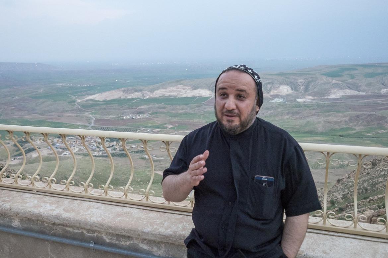 Fader Yusuf på klosteret Mar Mattai i Irak.