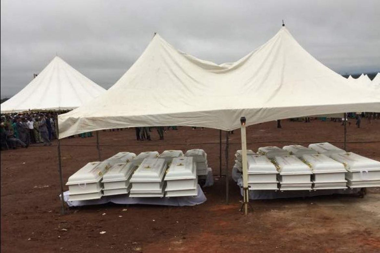 22. mai var det massegravferd etter massakre i ei kyrkje i Nigeria.
