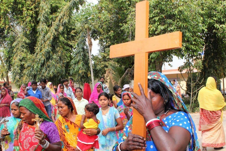 Indiske kristne i Varanasi i fastetiden.