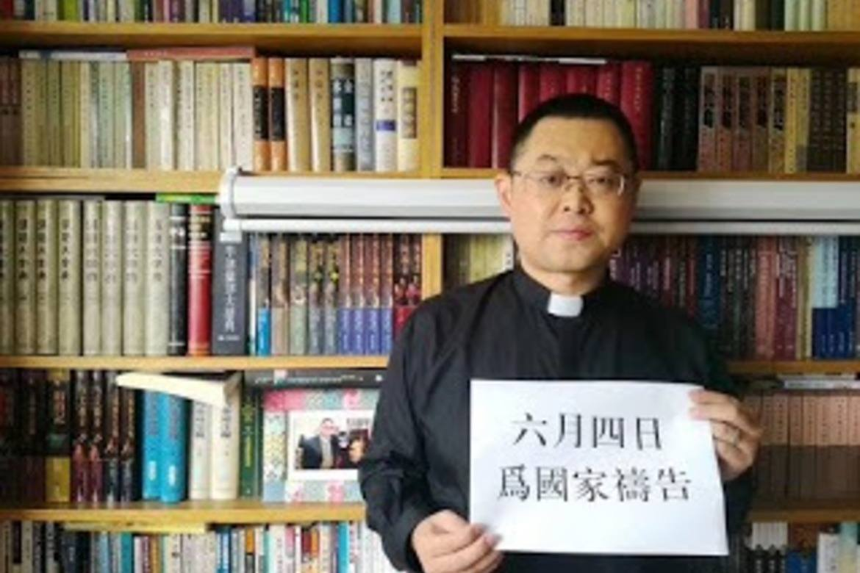 Pastor Wang er arrestert som kriminell. Foto. China Aid