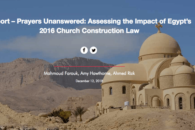 Egypts kristne: Rapporten «Unanswered prayers» viser hvor sakte det går med å løse dyp diskriminering som begrenser kristnes trosfrihet.