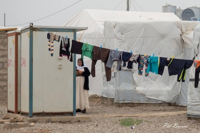 IS sitt drapsmaskineri ramma jesidiane hardast, skriv Johannes Morken - her frå ein leir for internt fordrevne jesidi-flyktningar i Nord-Irak.