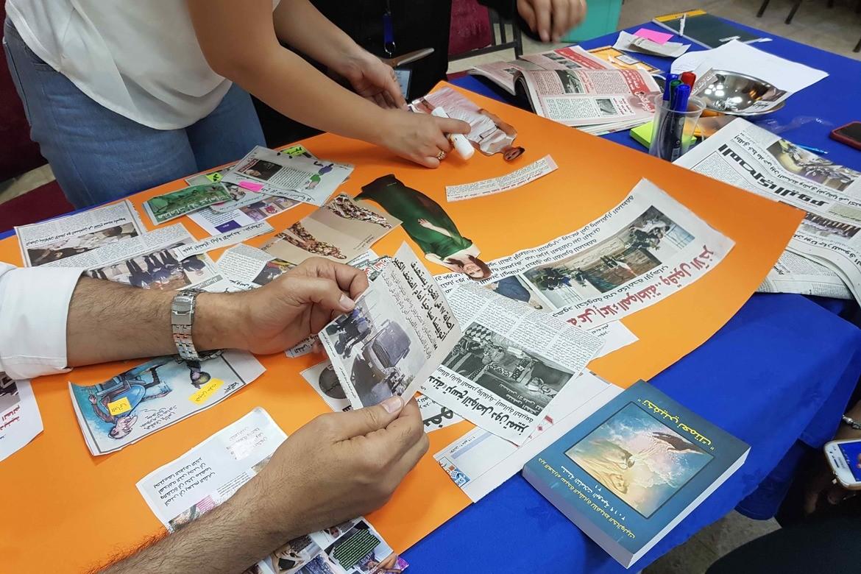 Ledere fra tre store kirkesamfunn i et land i Midtøsten lærer om trosfrihet.