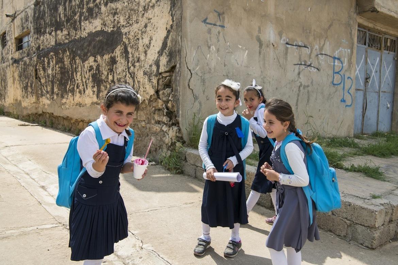 Kristne i Irak: Barn i den kristne landsbyen Tel Skuf i Nord-Irak - er det ei framtid for dei?