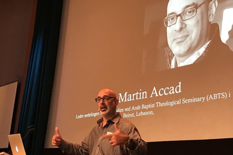 Martin Accad, kristen islam-kjenner, holdt foredrag på Normes Link-konferanse om kristne i Midtøsten og hvordan menigheter skal ta imot konvertitter fra islam.