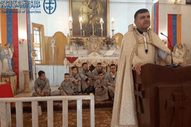 Fader Hovsep Bedouyan ble drept av IS-drapsmenn på vei til sin armensk-katolske kirke.