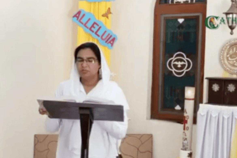 Påskedagsgudsteneste i St. Johns katolske kyrkje i Lahore i Pakistan.
