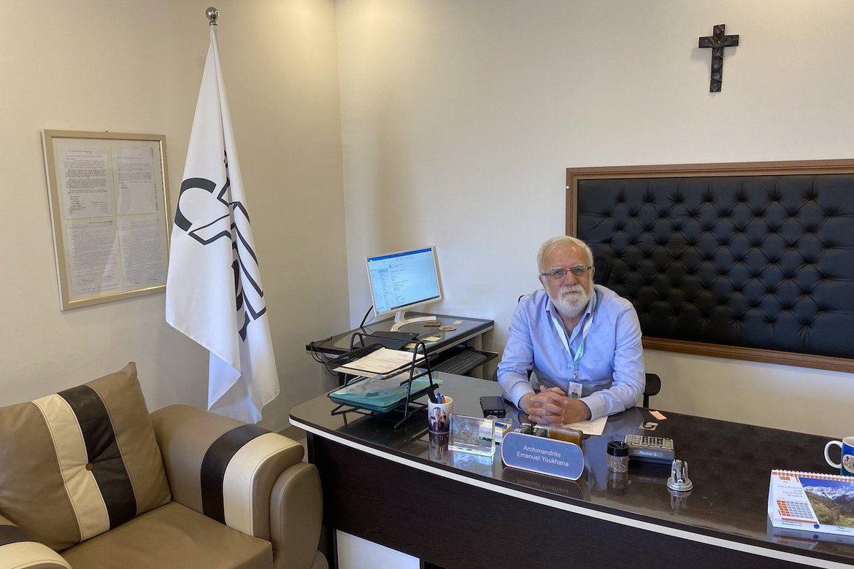 Emanuel Youkhana følgjer pandemien og krisa for Iraks minoritetar fra basen sin i Duhuk, nord i den kurdiske regionen i Irak.