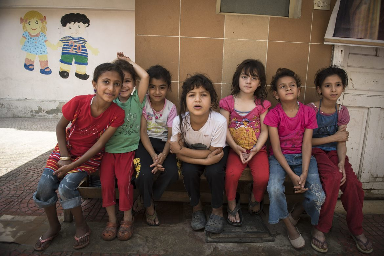 Stefanusbarna i Kairos 'søppelby'. Foto: Pål Brenne.