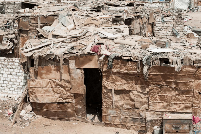 Hus på søppelplassen i Kairo