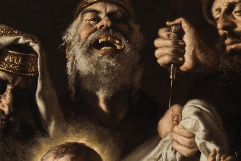 Målaren Giovanni Gasparro kom med eit antisemittisk måleri tidleg under pandemien. Her eit utsnitt av korleis jødar blei framstilte.
