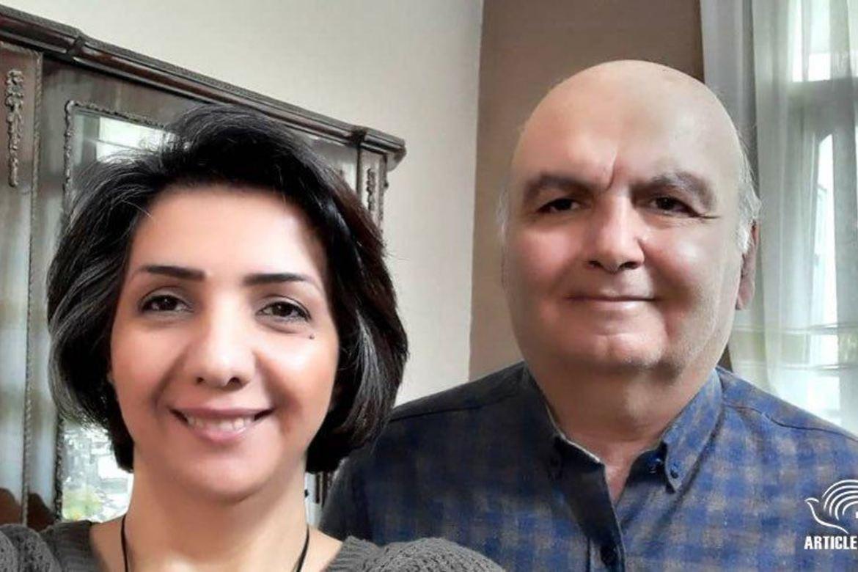 Homayoun Zhaveh, som er 62 , og hans kone Sara Ahmadi (42) skal sone flere år i Evin-fengselet i Teheran.