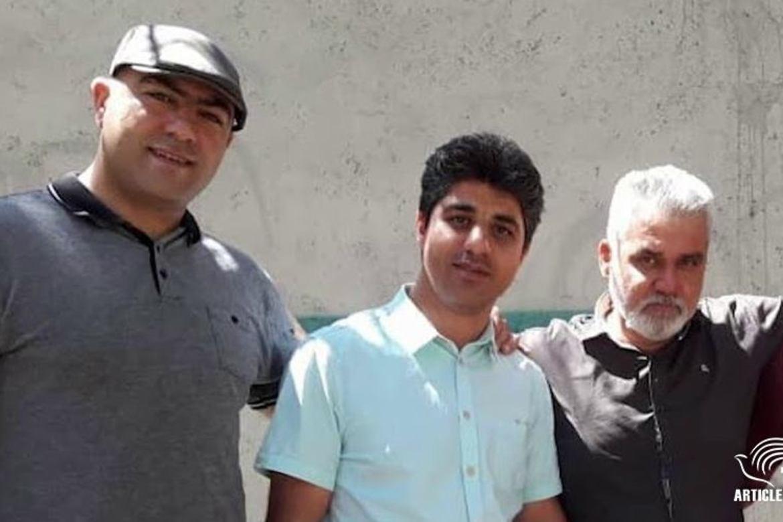 De er dømt til fem prs fengsel. Fra venstre:Milad Goodarzi, Amin Khaki og Alireza Nourmohammadi.