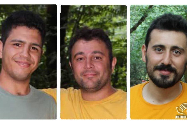 Kristne i Iran i fengsel: Ahmad Sarparast, Morteza Mashoodkari og Ayoob Poor-Rezazadeh er alle hentet og buret inne.