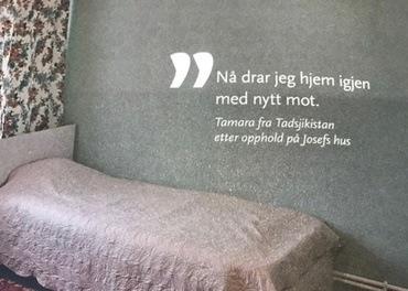 På Josefs hus kan mennesker bo i sikkerhet noen uker og få hjelp til å samle krefter. Foto: Kai Tore Bakke