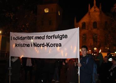 I 2013 ble Nord-Korea markert i fakkeltoget for trosfrihet og støtte til de kristne i Nord-Korea.