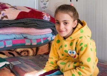 Maryam er ein av dei internt fordrevne kristne som lever i mellombelese leirar i Erbil-området.
