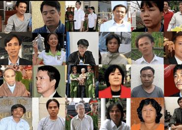 Her er bilder av mange av de fengslede i Vietnam.