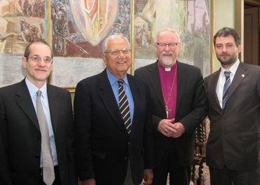 Mohammed Sammak, nr 2 fra venstre, sammen med blant andre daværende Oslo-biskop Ole Chr. Kvarme.