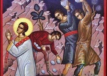 Ortodoks ikon som fremstiller Stefanus' martyrium