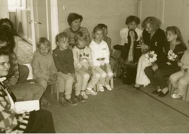 Da det ble lov å drive barnearbeid, eksploderte oppslutningen om søndagsskolen i baptistmenigheten i Viljandi. Her fra artikkelforfatterens besøk vinteren 1991.