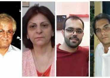 Det blei inga ankesak for kristne i Iran 3. september. Her er pastorparet Victor Bet Tamraz og Shamiram Issavi - og Amin Afshar-Naderi og Hadi Asgari.