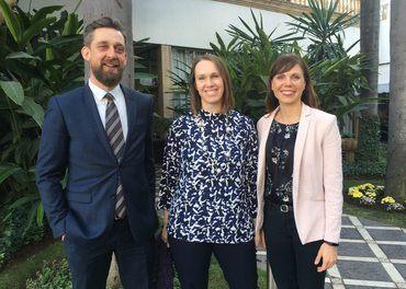 Lisa Winther fra Stefanusalliansen, Katherine Cash fra Svenska Missionsrådet og Filip B Pedesen fra Danske Misjonsrådet.