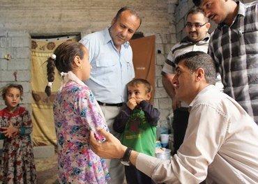 Pastor Yalda bruker mye tid på å gi omsorg til flyktningene som kommer til Erbil.