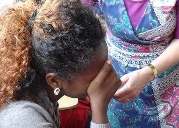 Ei etiopisk kristen kvinne.