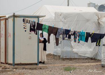 Ein flyktningleir for fordrivne jesidiar  i Irak.