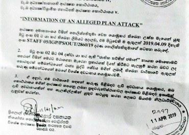 Dette terrorvarselet kom 11 dagar før påsketerroren på Sri Lanka.