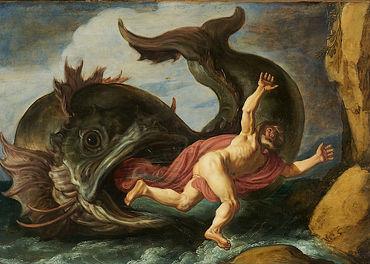 Profeten Jona og hvalfisken - malt av Peter Lastman i 1621.