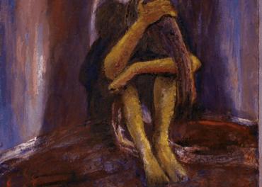 Kvinner utsatt for overgrep. Maleri: Reidar Kolbrek