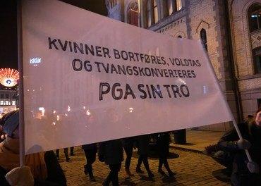 Fakkeltog for forfulgte: Hvert år arrangerer Stefanusalliansen og Åpne Dører fakkeltog i en rekke norske byer og tettsteder.