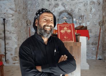 Fader Aho Bilichen på klosteret Mor Yakoub i Tur Abdin i Tyrkia under et møte med Stefanusalliansen høsten 2019.